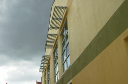 Sun Louvres Installation For Commercial Shop Lot Building – Shop Lot Rawang