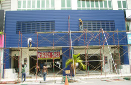 Wall Cladding Installation For Commercial Shop Lot – Peugeot Puchong